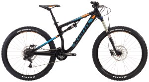 2016 Kona Precept 150 Large Matt Black w/ Cyan & Orange Decals