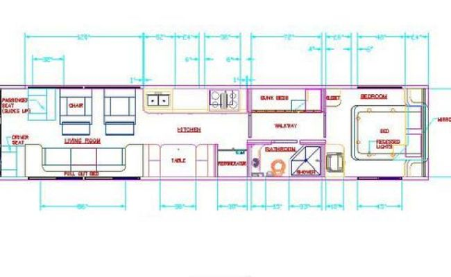 7 Free Floor Plans For School Bus To Tiny Home Conversions