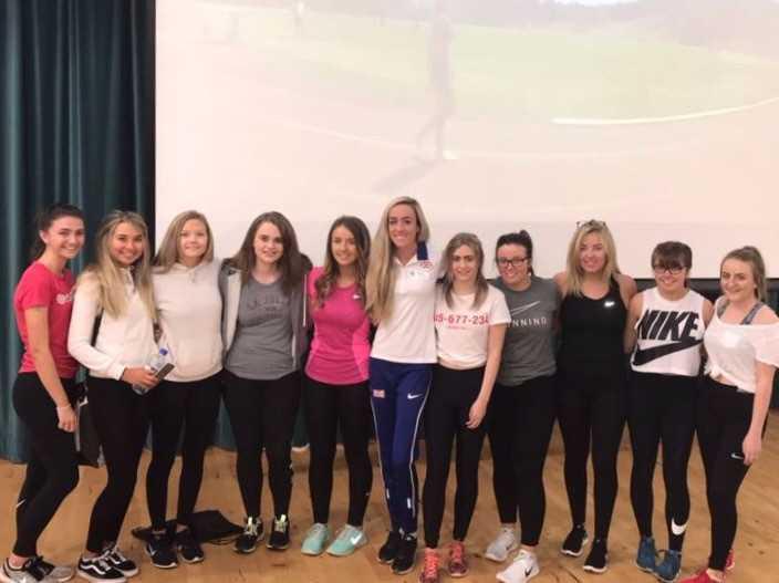Olympian Eilish McColgan visits Clydeview Academy