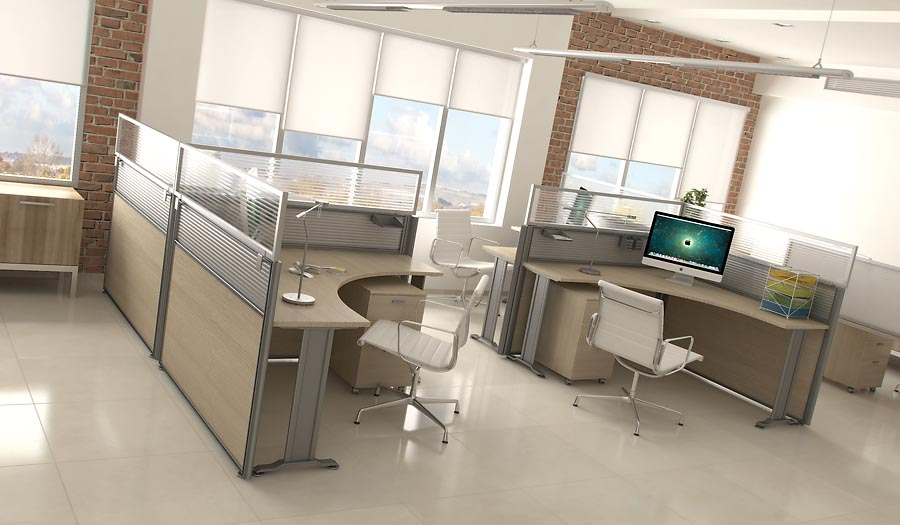 Desk Mounted Privacy Panels  Green Office Furnishings