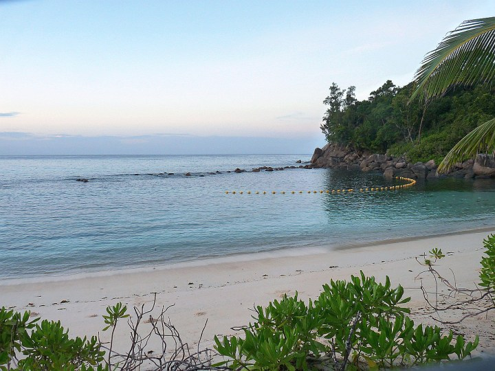 The protected snorkelling site at Avani Barbarons Seychelles