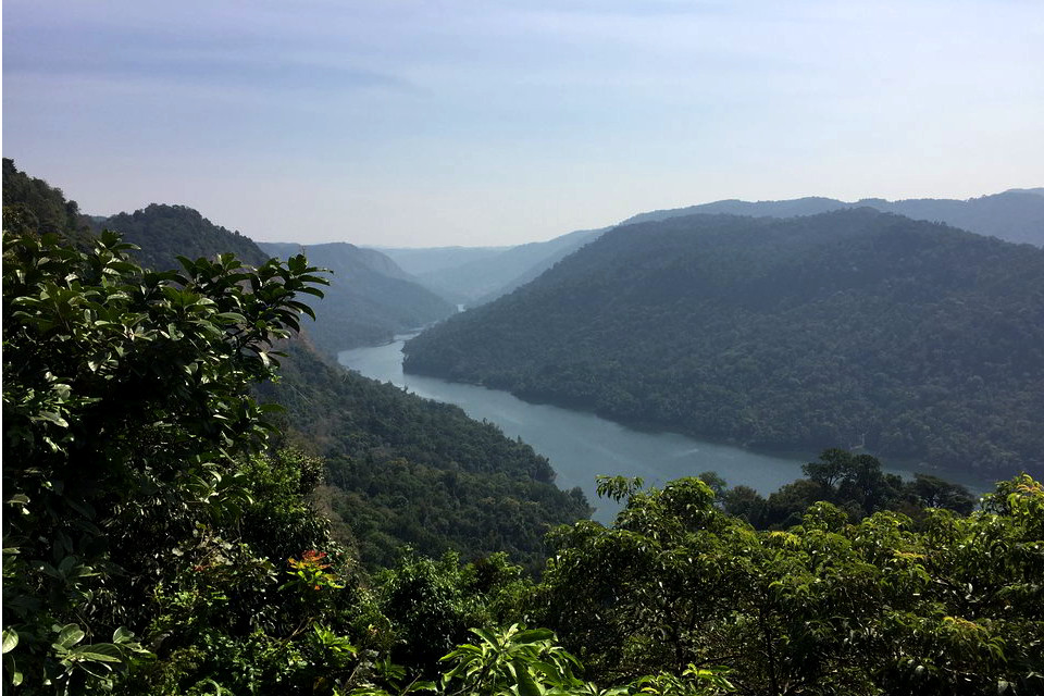 A view of Sharavathi Valley from the viewpoint overlooking Gersoppa reservoir