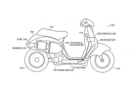 Dean Kamen's Stirling Engine Hybrid Scooter Runs on