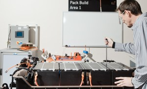 Lithium-Ion Battery Pack Being Assembled and Tested