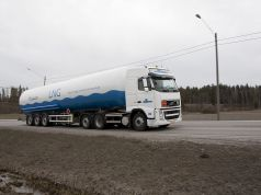 Liquified Natural Gas [LNG] being Transported in Finland