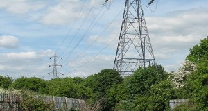 High VOltage Cables over Lee Valley