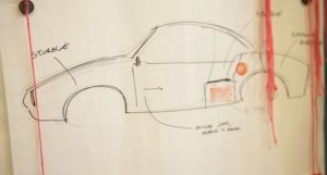 """MindDrive's 1967 Karmann Ghia Electric Vehicle, """"Powered"""" by Social Media, Now on its way to Washington, DC"""