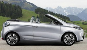 Artist's Conception of a Convertible Renault ZOE Electric Vehicle