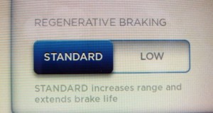 Tesla Model S Regenerative Braking