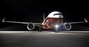 The Boeing 777x's 234ft wingspan folds up to just 212ft when on the ground.