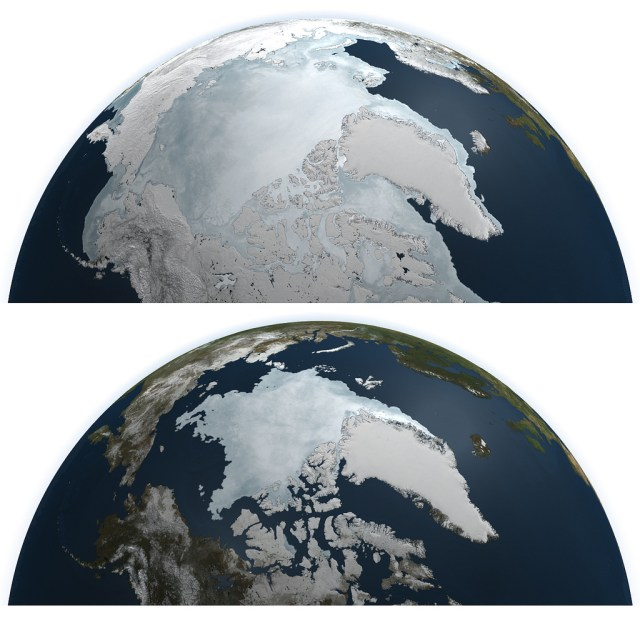 Arctic Ice Minimum and Maximum in 2011