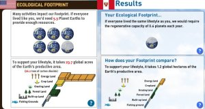 Try Earth Day Network's Footprint Calculator