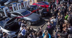Hamilton, New Jersey - Over 100 People Gathered at the Opening of the 100th Tesla Supercharger