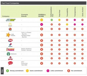 Fast Food Companies and the Environment