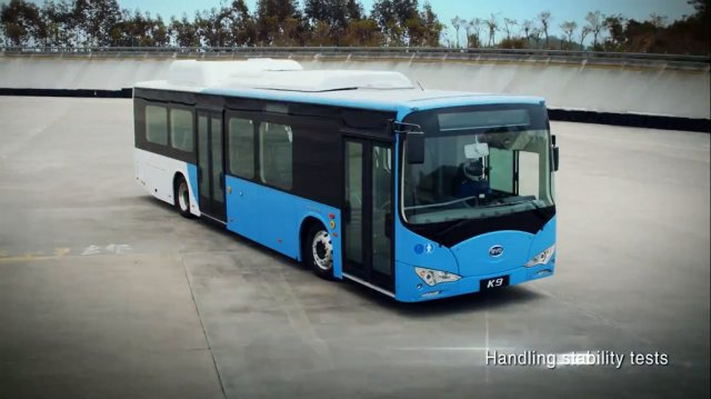 BYD Testing its Electric Bus, Soon to Go Into Service in California