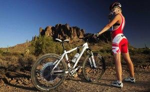 Regular Mountain Bike With Solar Electric Rear Hub