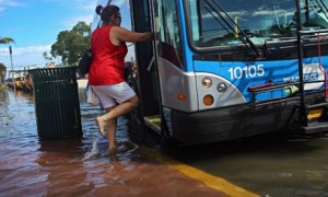 Tidal flooding and sea level rising on US East Coast : Floods in Miami