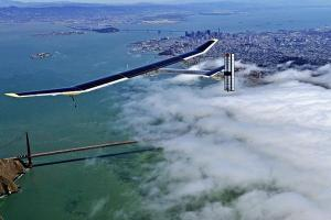 Solar Impulse Flying Across the Golden Gate