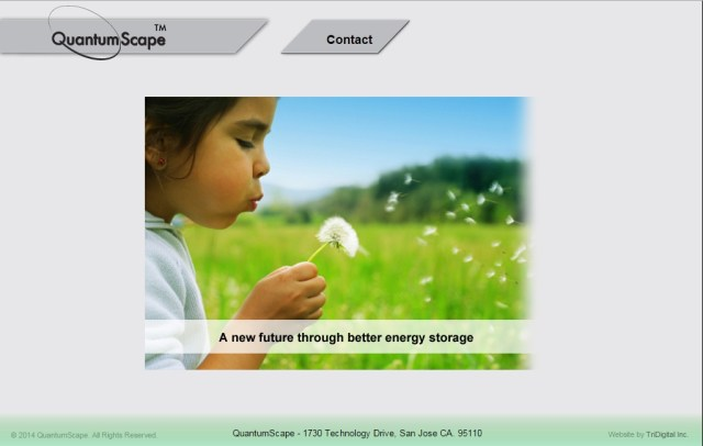 This is ALL of QuantumScape's website, which doesn't tell us much about Volkswagen electric vehicles.