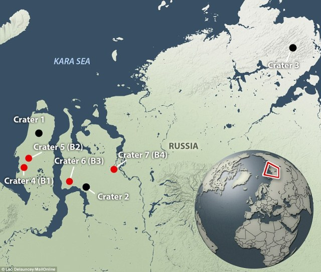 Lots of new holes opening up in the Russian North.