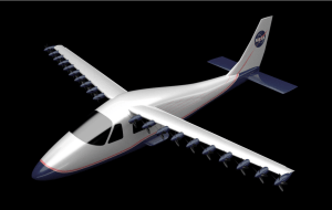 A rendering of the LEAPTech aircraft