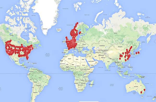 Tesla Charging Stations Map >> New Charging Station Map Displays Tesla S Success The Green Optimistic