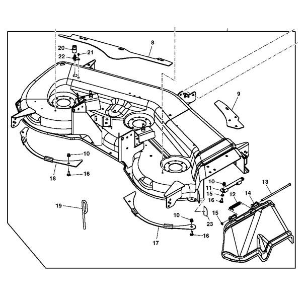 John Deere The Edge Cutting System 54-inch Mower Deck