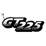 John Deere Model GT225 Lawn and Garden Tractor Parts