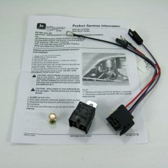 John Deere 445 Wiring Diagram Trailer Wire Harness Starting Improvement Relay Kit - Am107421