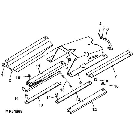 Attaching Parts Kit for John Deere Deluxe High-Back Seat