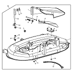 42-inch Mower Deck Parts for L110