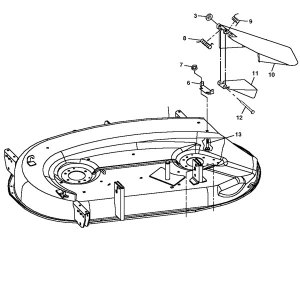 John Deere 42C Mower Deck Housing  AM128570