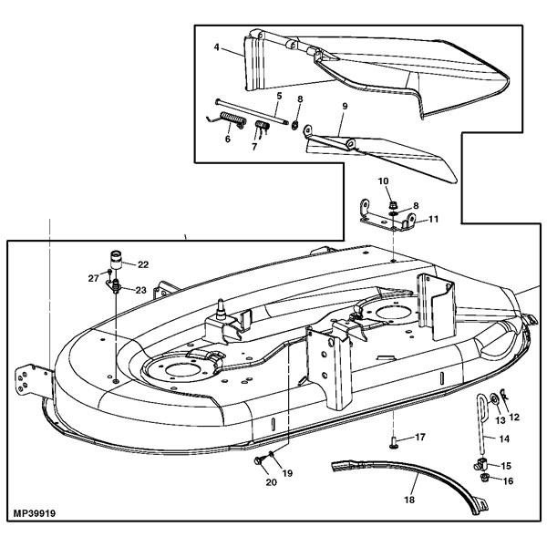john deere lawn mower engine diagram