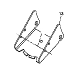46-inch Front Blade Parts for John Deere L110