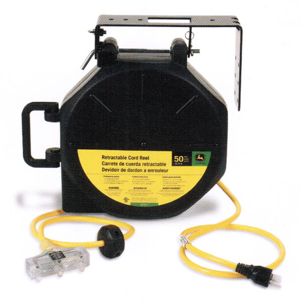 extension cord reel 3 5 mm audio jack wiring diagram john deere 50 foot retractable et 1114 j