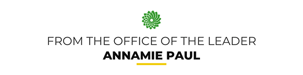 From the office of the Leader Annamie Paul