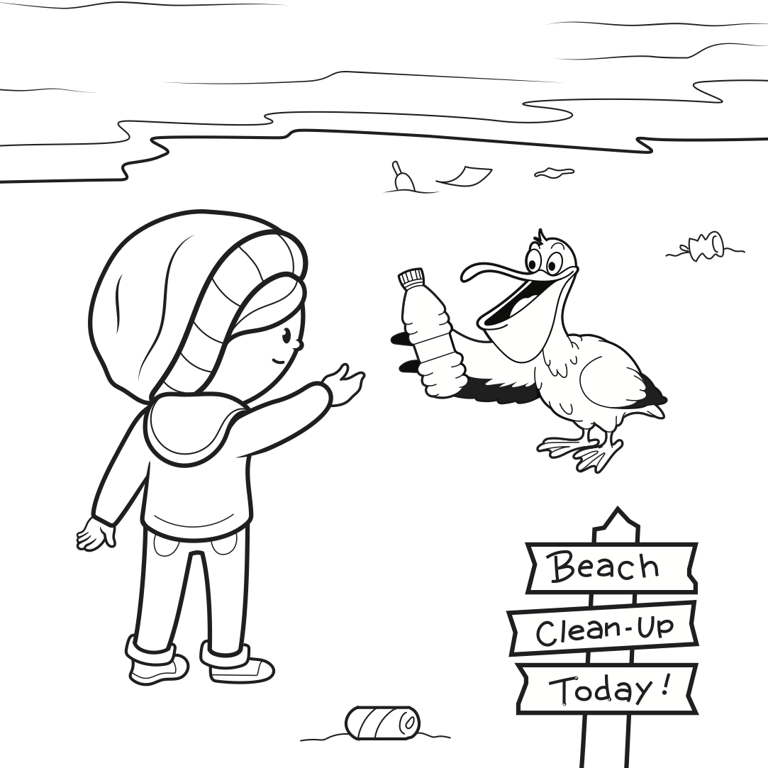 Coloring pages for young (and young at heart) Greenpeacers