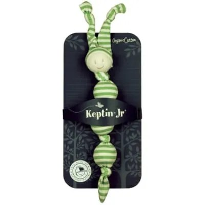 Keptin-Jr green & white rattle packaged