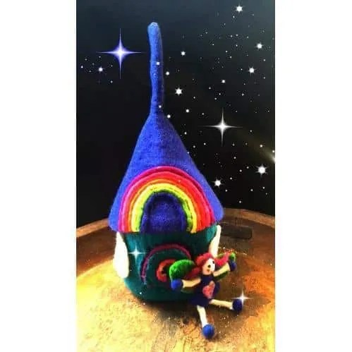 rainbow chakra home with blue fairy