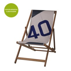 Sailcloth Beach Chairs Antique Rocking Chair With Leather Seat Upcycled Deckchair Transatlantic 40 Made Of Greenpicks