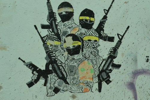 Wall art in Aida refugee camp, Bethlehem (David Kattenburg)