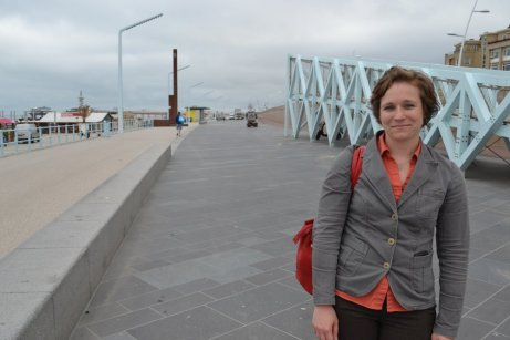 Ellen Tromp on Scheveningen's new boulevard dike.