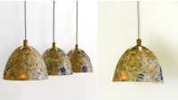 recycled sawdust lamp | Green Prophet