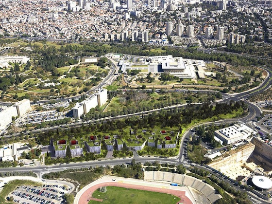 green roof, subterranean, natural history museum, Jerusalem, Israel