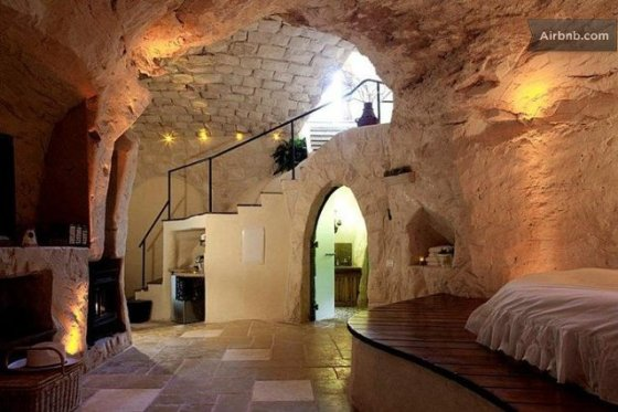 Columbarium Is An Eco Luxe Cave Dwelling In Israel Green