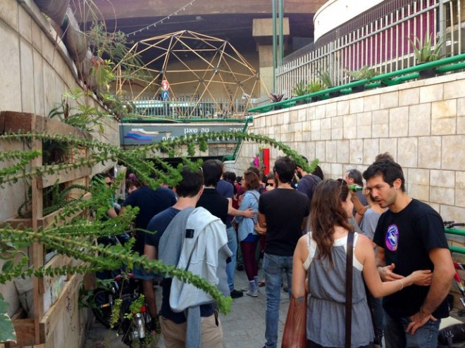garden guerrillas attack tel aviv bus station