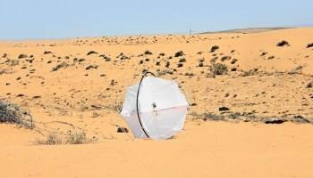 desertification, Bezalel Academy, Shlomi Mir, industrial design, water issues, desertification, Middle East, Israeli design, green tech, clean tech, wind-powered robot, Tumbleweed rolling robot
