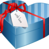 blue heart present box