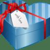 blue heart present box