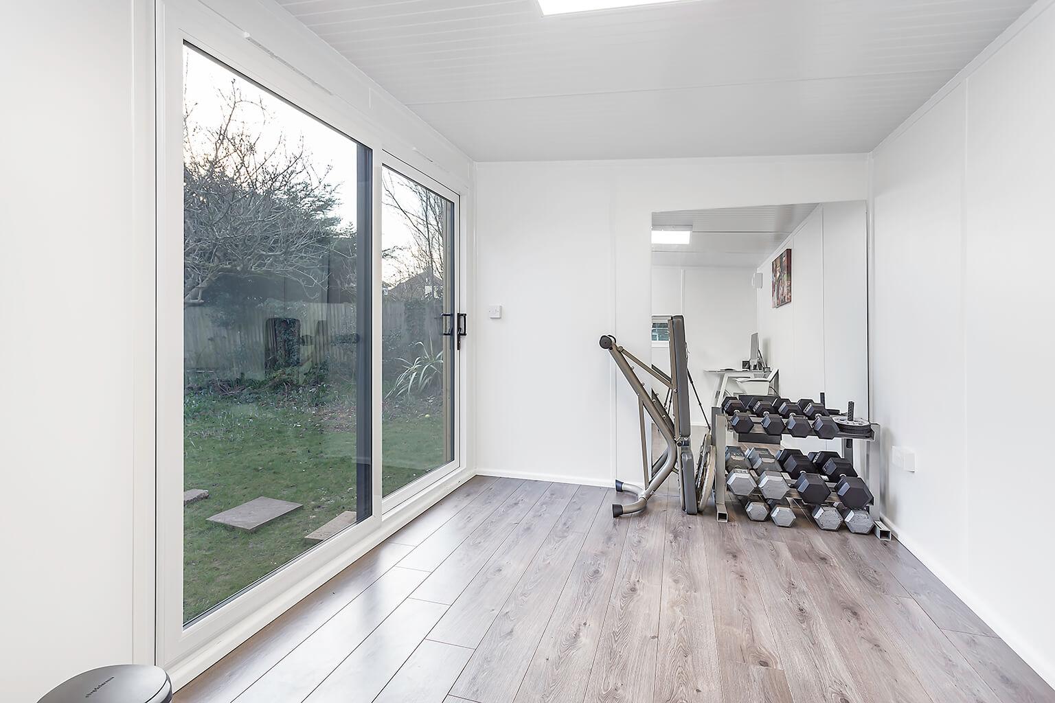 4m X 2 5m Office Gym Combo Green Retreats